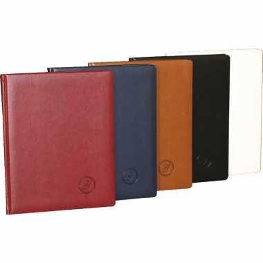 Luxe blauw gastenboek 27 cm