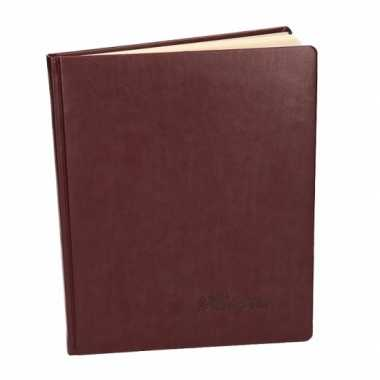 Luxe rood gastenboek 27 cm
