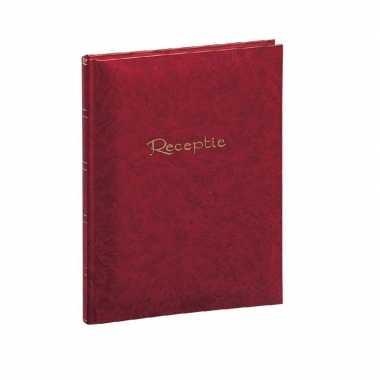 Rood gastenalbum/gastenboek 48 paginas 205 x 260 mm