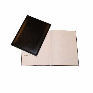 Zwart gastenalbum/gastenboek 48 paginas 205 x 260 mm